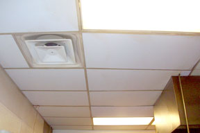 clean ceiling and diffuser